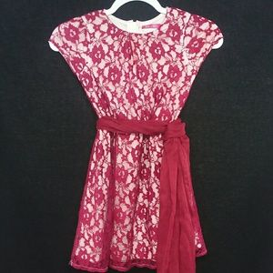 Other - 🔴3/$25 Girls Lace Burgundy Dress